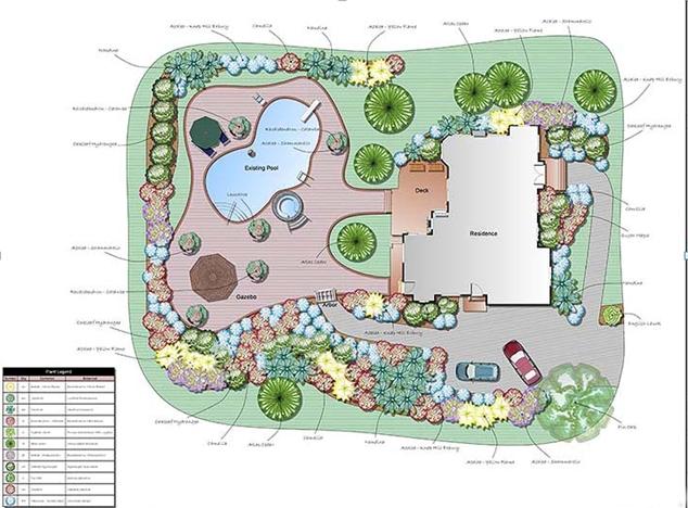 Nacrt Vrta vrtovi eucaliptus